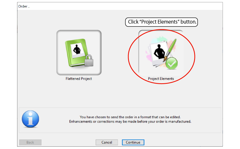 Select project elements