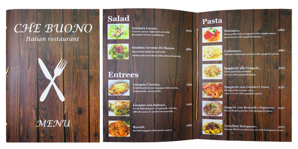 Pamphlet Stitching Menu by Tanabutr